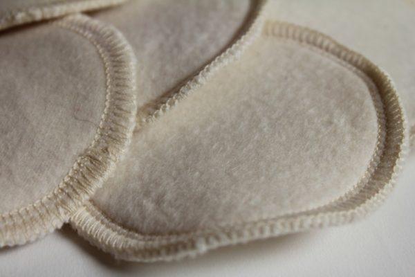 détail des disques lavables en coton
