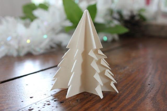 sapin en origami.